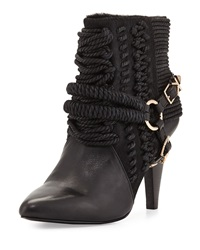 Ivy Kirzhner Chile Leather Rope Calf Hair Bootie Black