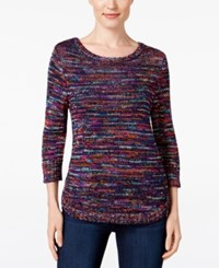 Ny Collection Petite Space Dyed Sweater Thena