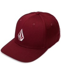 Volcom Men's Full Stone Flex Fit Hat Plum