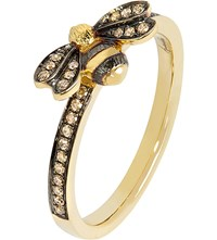 Annoushka 18Ct Yellow Gold And Diamond Bee Ring