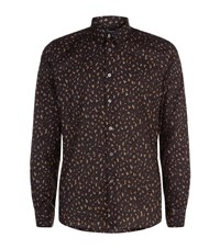 Paul Smith Ps By Tailored Fit Leopard Camo Shirt Male Khaki