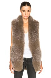 Derek Lam 10 Crosby Knitted Fox Fur Vest In Gray