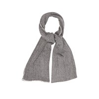 Oasis Two Colour Textured Scarf Black