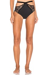 For Love And Lemons Emerie Hi Waist Panty Black
