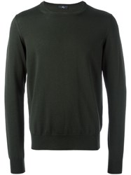 Fay Round Neck Jumper Green