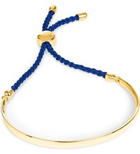 Monica Vinader Fiji 18Ct Gold Plated Friendship Bracelet Gold Royal Blue