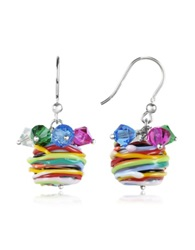 Forzieri Gomitoli Murano Glass Bead Earrings Multicolor
