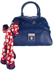Love Moschino Scarf Detail Tote Blue