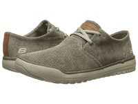 Skechers Relaxed Fit Oldis Stound Taupe Canvas Men's Lace Up Casual Shoes
