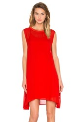 Lacausa Sleeveless Mini W Slip Red