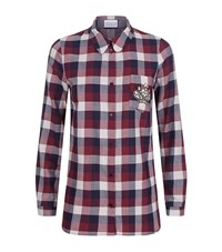 Claudie Pierlot Charlot Embellished Check Shirt Female Red