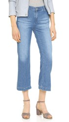 Ag Jeans The Layla Crop Flare Trouser Jeans Merchant Navy