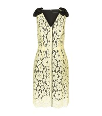 Marc Jacobs Floral Lace Dress Female Yellow
