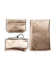 Ivanka Trump Ros Rio Travel Wallet Key Pouch And Business Card Case Giftset Rose Gold