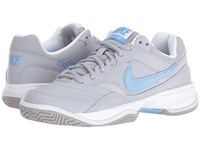 Nike Court Lite Wolf Grey White Light Blue Women's Tennis Shoes