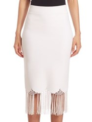 A.L.C. Fitted High Waist Skirt White
