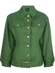 Jean Paul Gaultier Vintage Fitted Structured Sleeve Jacket Green