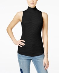 Inc International Concepts Ribbed Mock Neck Sweater Only At Macy's Deep Black
