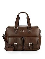 Robert Graham Lars Leather Duffle Bag Brown