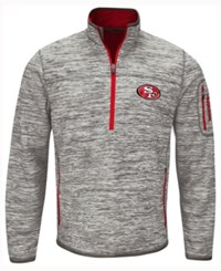 G3 Sports Men's San Francisco 49Ers Fast Pace Quarter Zip Pullover Gray Red