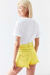 Urban Renewal Recycled Overdyed Cutoff Short Yellow