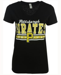 G3 Sports Sport Women's Pittsburgh Pirates Flyout Glitter T Shirt Black