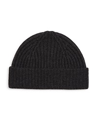 The Men's Store At Bloomingdale's Ribbed Wool Cashmere Beanie Charcoal