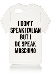 Moschino T Shirt Silicone Iphone 5 Cover White