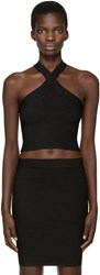 Alexander Wang Black Criss Cross Strap Tank Top