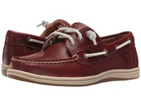 Sperry Songfish Heavy Leather Rust Women's Lace Up Moc Toe Shoes Red
