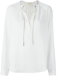 Michael Michael Kors Chain Detail Blouse Nude And Neutrals