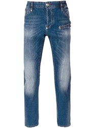 Philipp Plein 'Slam' Jeans Blue