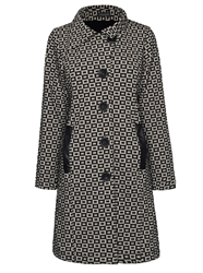 James Lakeland Texture Pu Pockets Coat Beige