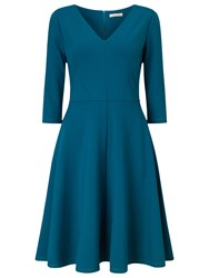 Jacques Vert Ponte Skater Fit And Flare Dress Dark Green