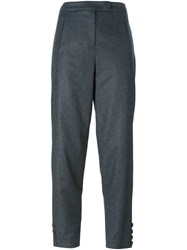 Emporio Armani Cropped Trousers Grey