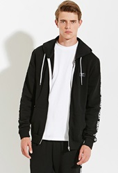 Forever 21 Rascals Band Zip Hoodie Black White