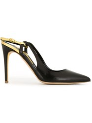 Rupert Sanderson Pointed Toe Sandals Black