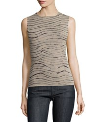 Armani Collezioni Naturale Animal Print Tank Natural Multi