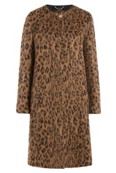 Salvatore Ferragamo Wool Alpaca Leopard Print Coat Animal Prints