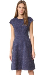 Lela Rose Blair Cap Sleeve Dress Navy Multi