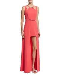 Halston Heritage Sleeveless Split Skirt Gown Coral Size 10