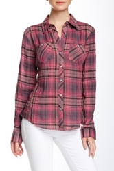 Sandra Ingrish Plaid Two Pocket Shirt Pink