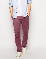 Pull And Bear Pullandbear Chinos With Belt Red