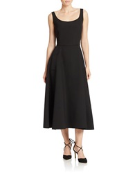 424 Fifth Scoop Neck Flared Dress Black