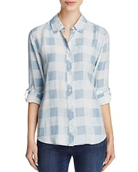 Prive Wild Bill Buffalo Plaid Shirt Medium Indigo