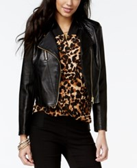 Thalia Sodi Cropped Faux Leather Moto Jacket Only At Macy's