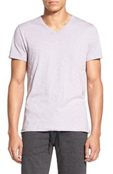 Vince Men's 'Refined' Slubbed V Neck T Shirt Lavender Mist