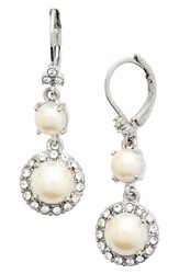 Women's Marchesa Faux Pearl Drop Earrings