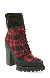Women's Gx By Gwen Stefani 'Trial' Platform Bootie Red Black Wool