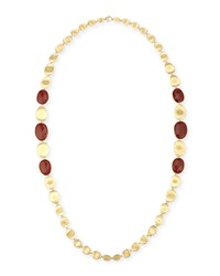 Lunaria Double Wave Red Jasper Necklace 39.5' Marco Bicego